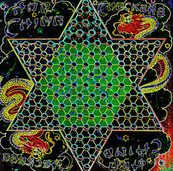 Photograph - Neon Chinese Checkers by Paul W Faust - Impressions of Light