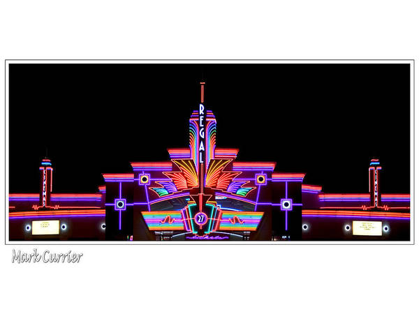 Photograph - Neon Cinema by Mark Currier