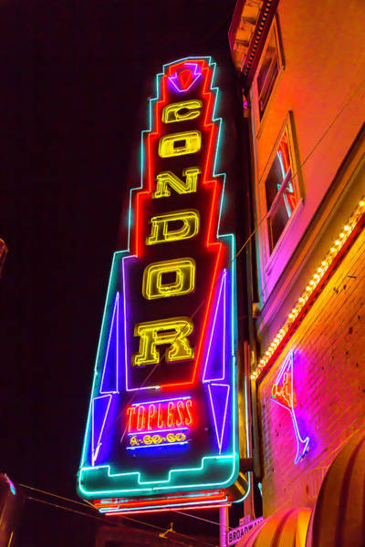 Vintage Neon Sign Photograph - Neon Condor San Francisco by Garry Gay