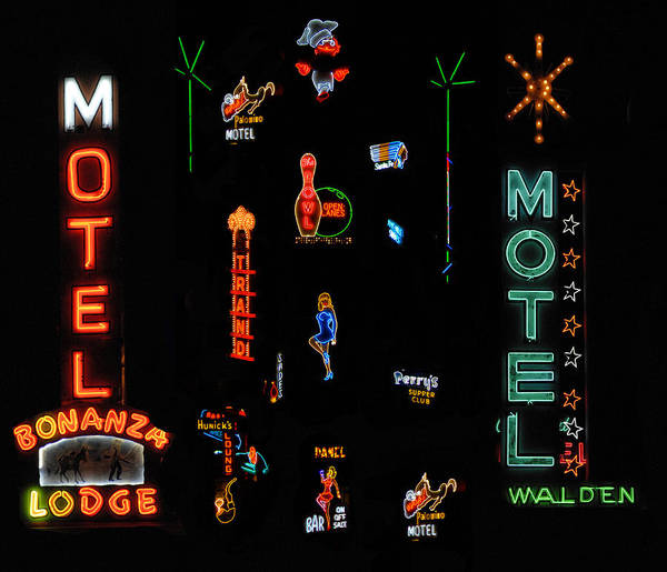 Wall Art - Photograph - Neon Crazy by David Lee Thompson