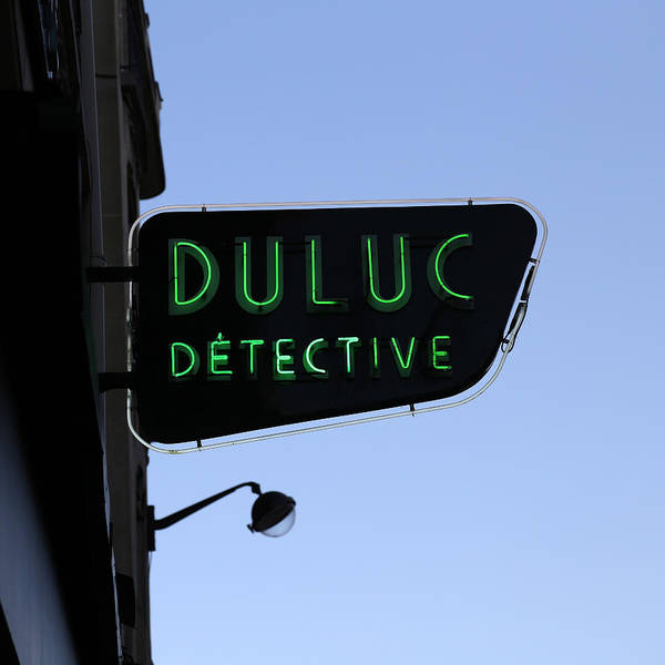 Photograph - Neon Detective Sign by Andrew Fare