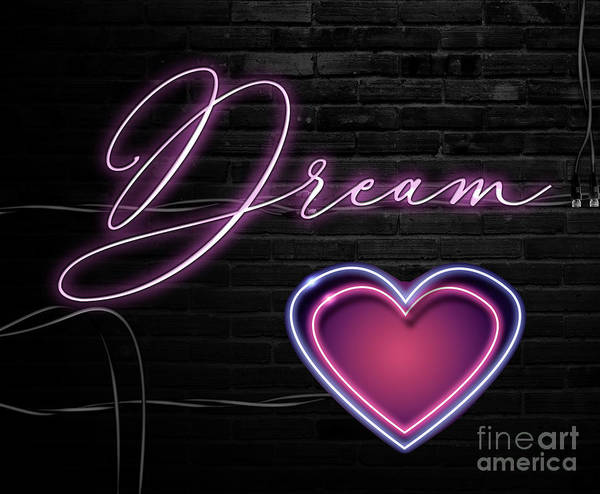Neon Pink Painting - Neon Dream by Mindy Sommers