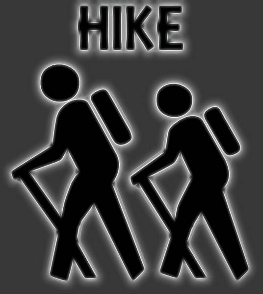 Wall Art - Digital Art - Neon Hike Poster by Dan Sproul