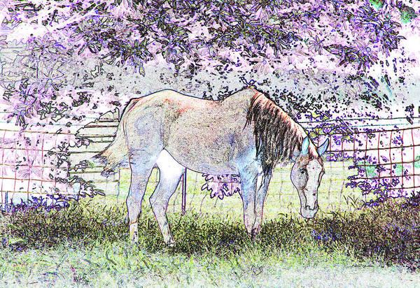 Photograph - Neon Horse 6651 by Ericamaxine Price