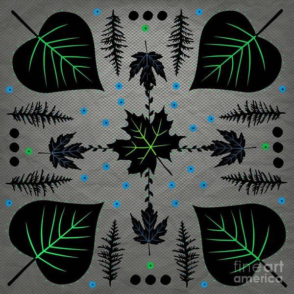 Digital Art - Neon Leaves by Diamante Lavendar