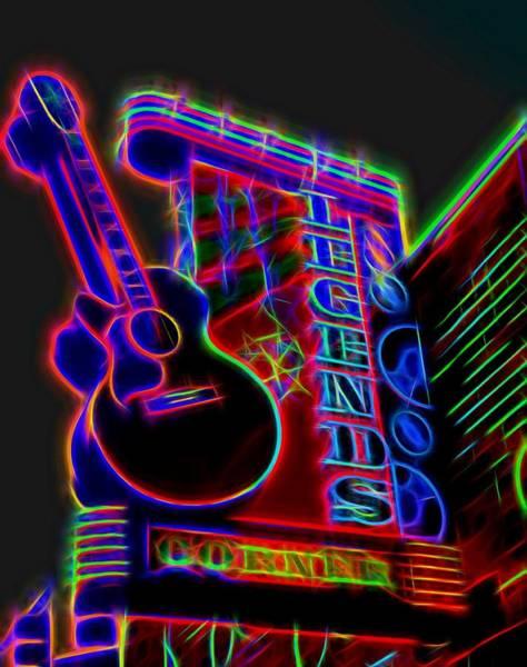 Neon Lights Mixed Media - Neon Legends Corner Nashville by Dan Sproul
