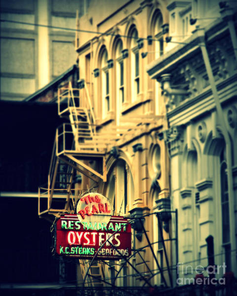 Wall Art - Photograph - Neon Oysters Sign by Perry Webster