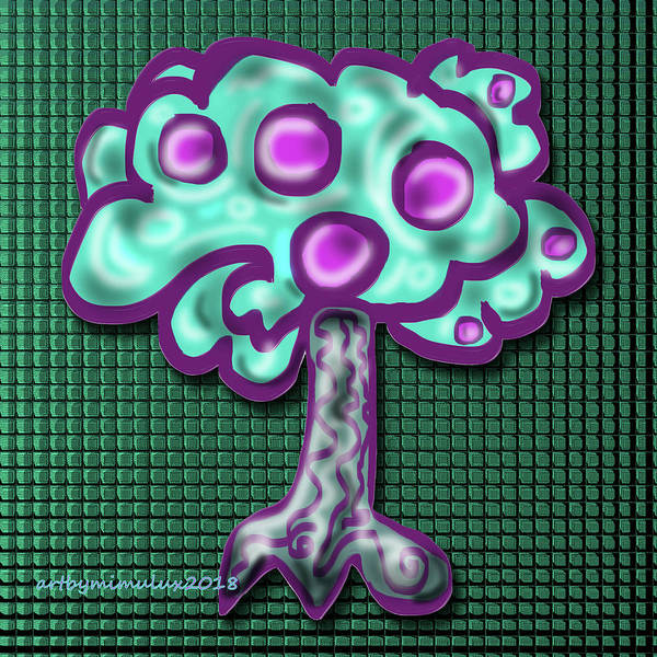 Digital Art - Neon Tree by Mimulux patricia No
