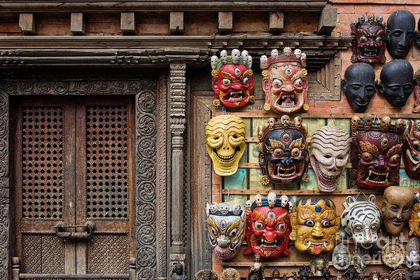 Wall Art - Photograph - Nepalese Carving by Tim Gainey