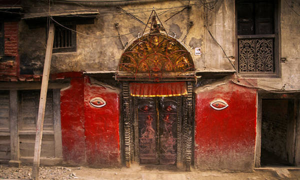 Nepalese Door Art Print