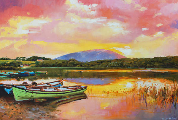 Conn Wall Art - Painting - Nephin From Lough Conn by Conor McGuire