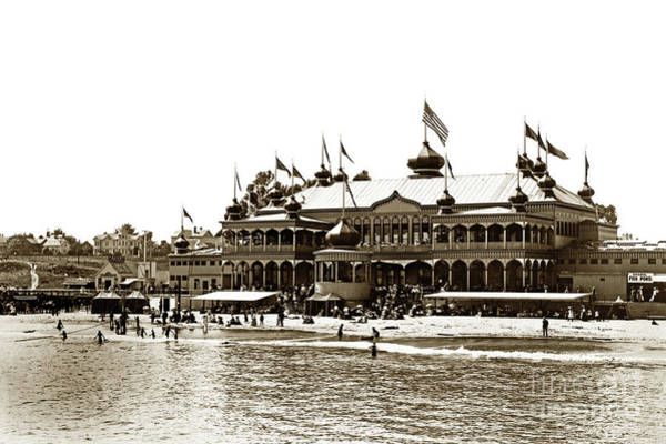 Photograph - Neptune Casino And Onion-domed Bandstand, Santa Cruz Beach Circa 1904 by California Views Archives Mr Pat Hathaway Archives