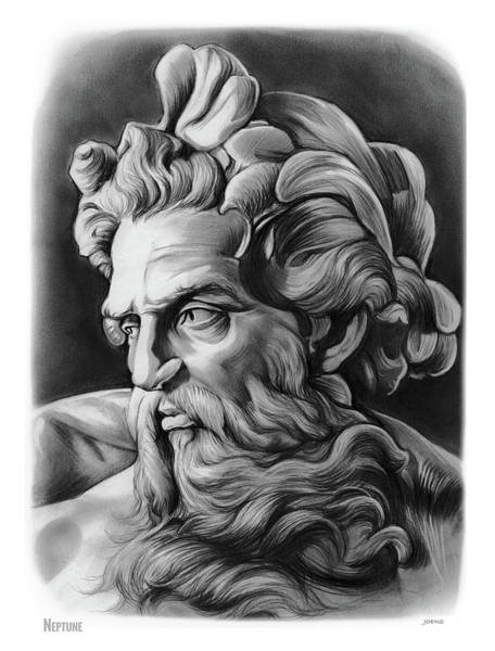 Ancient Drawing - Neptune by Greg Joens