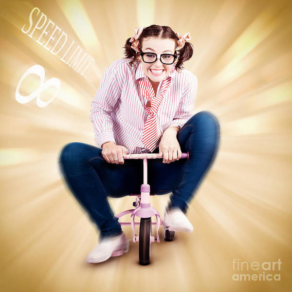 Photograph - Nerd Breaking The Speed Of Sound On Kids Bicycle by Jorgo Photography - Wall Art Gallery