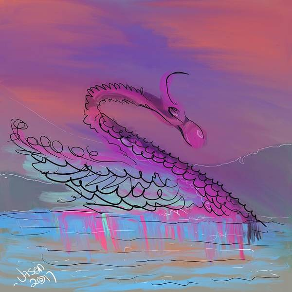 Digital Art - Nessie by Jason Nicholas