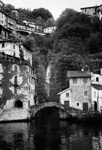 Photograph - Nesso On Lake Como Italy Bw by Joan Carroll