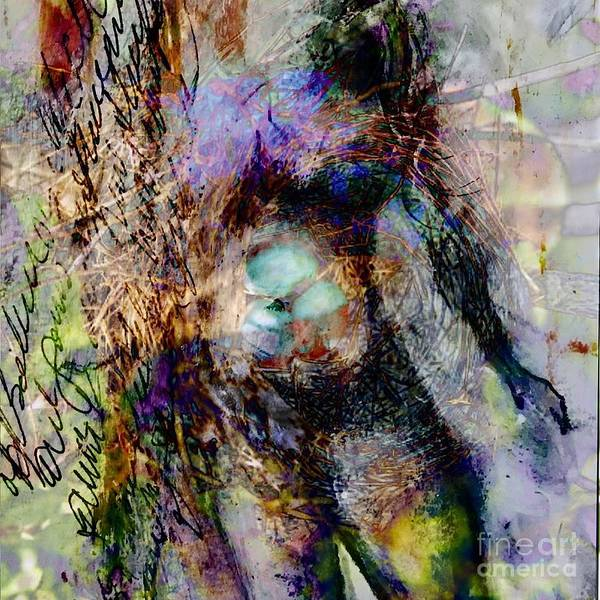Pregnancy Mixed Media - Nesting by Gail Butters Cohen