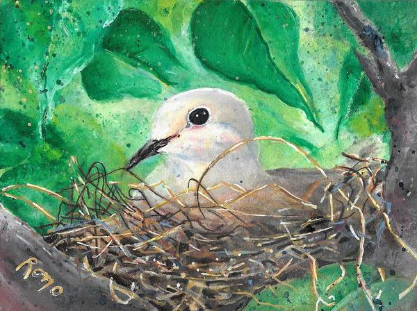 Romo Painting - Nesting by Robin Monroe