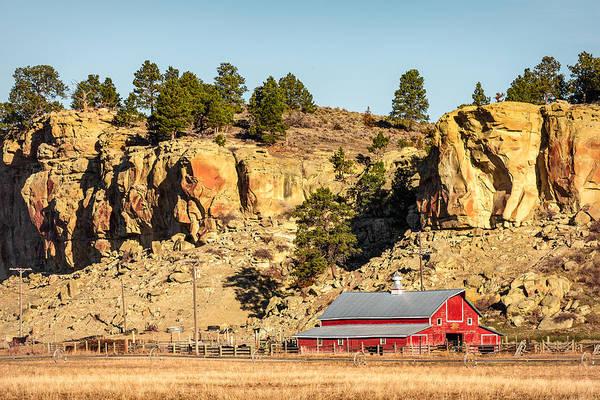 Montana Photograph - Nestled Along The Cliffs by Todd Klassy