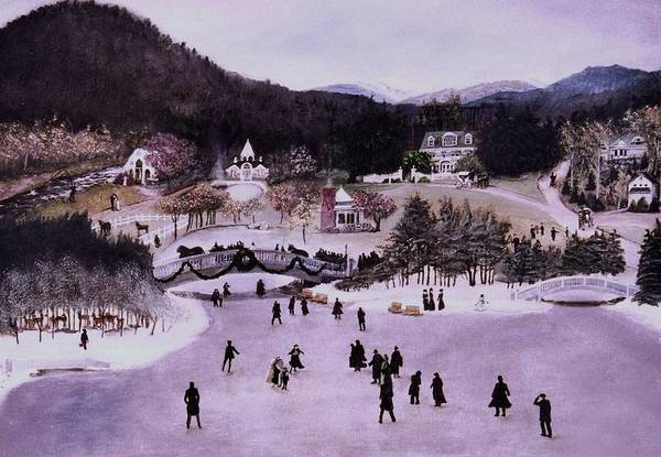 New Hampshire Painting - Nestlenook Farm Holiday by Gail Wurtz