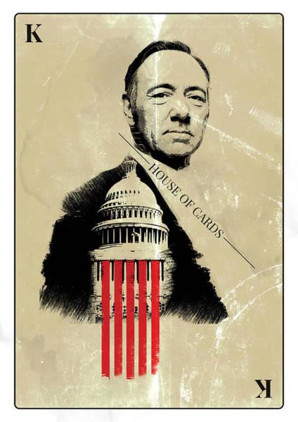 Digital Art - Netflix House Of Cards Frank Underwood Portrait  by IamLoudness Studio