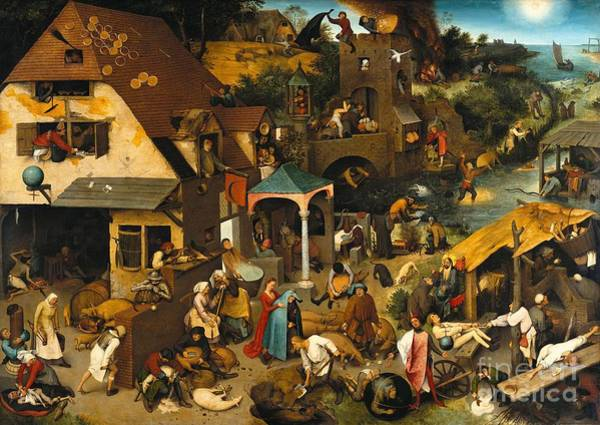 Painting - Netherlandish Proverbs by Celestial Images