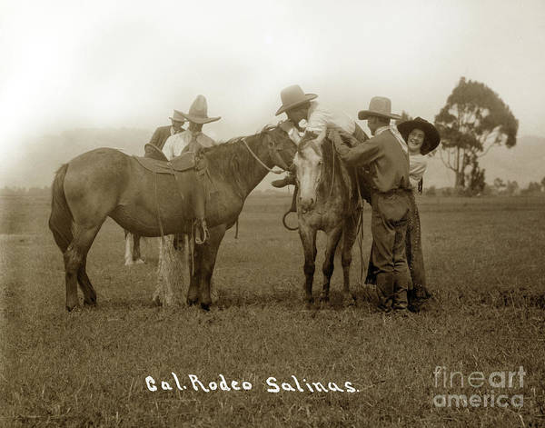 Photograph - Nettie Hawn And California Rodeo Salinas Circa 1913 by California Views Archives Mr Pat Hathaway Archives