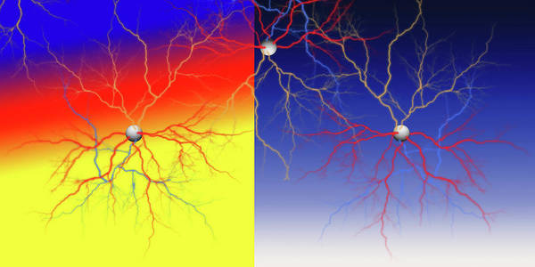 Quick Digital Art - Neuron X2x Cluster by Betsy Knapp