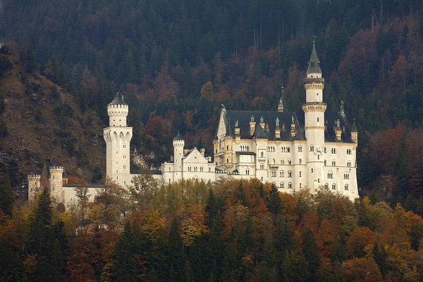 Bavaria Photograph - Neuschwanstein Castle by Andre Goncalves