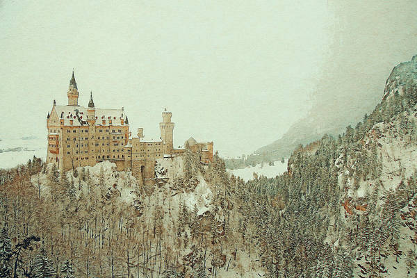 Digital Art - Neuschwanstein Castle Germany by Anthony Murphy
