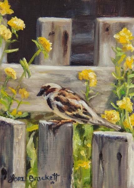 Painting - Nevada City Garden by Lori Brackett