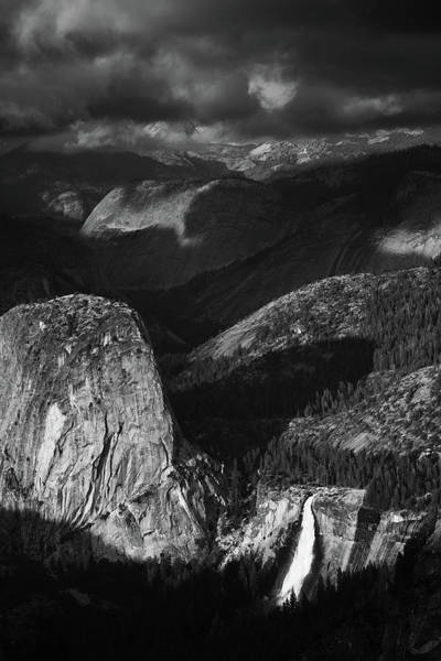 Photograph - Nevada Fall Yosemite Shadows by Kyle Hanson