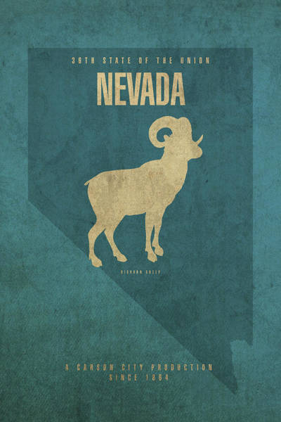 Wall Art - Mixed Media - Nevada State Facts Minimalist Movie Poster Art by Design Turnpike