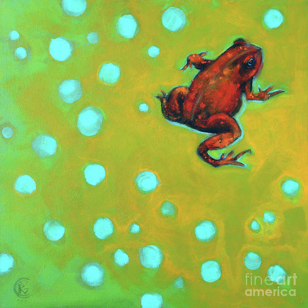 Rosemary Painting - Never Can Say Goodbye American Toad by Rosemary Conroy