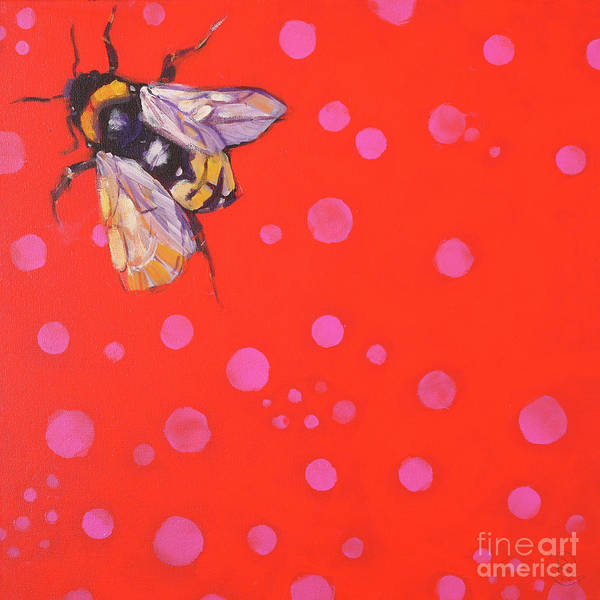 Rosemary Painting - Never Can Say Goodbye Bumblebee by Rosemary Conroy