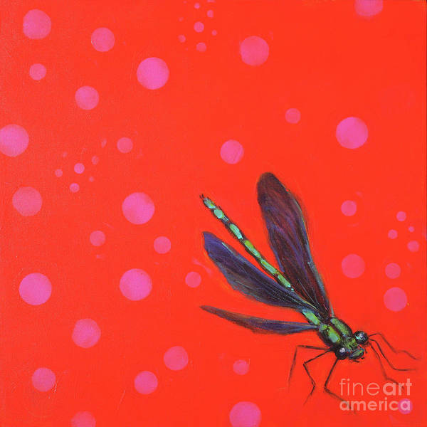 Rosemary Painting - Never Can Say Goodbye Ebony Jewelwing by Rosemary Conroy