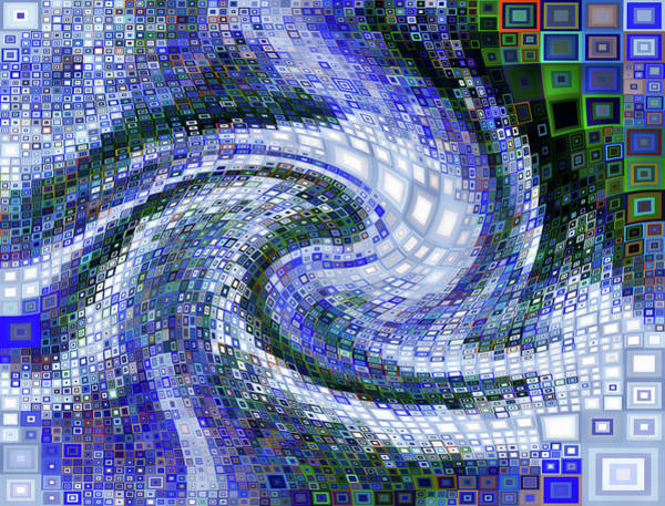 Digital Art - Never Ending City Geometric Abstract by Isabella Howard