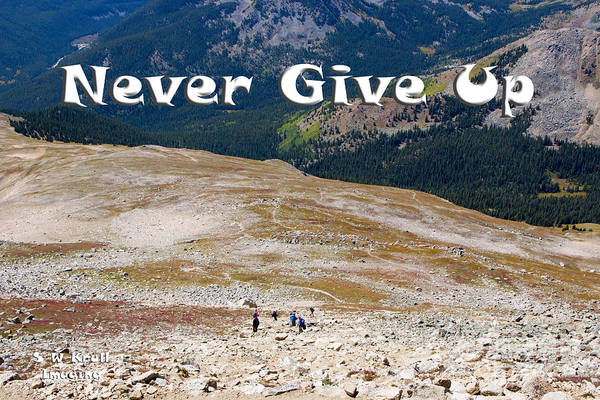 Photograph - Never Give Up On Mount Yale Colorado by Steve Krull