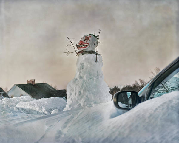 Snowman Photograph - Never Gonna Leave You by Susan Capuano
