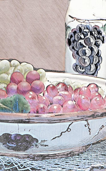Processing Mixed Media - Never Have Too Many Grapes by Sherry Hallemeier