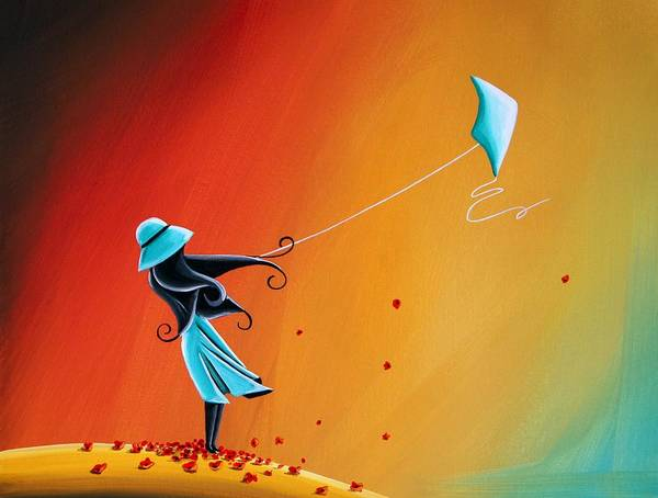 Imaginative Painting - Never Let Go by Cindy Thornton