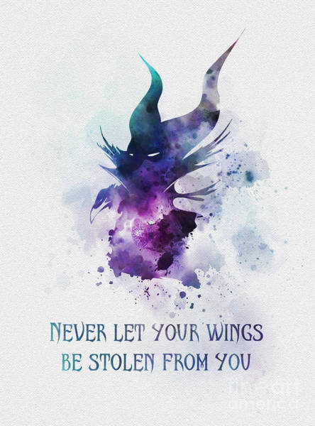 Beauty Mixed Media - Never Let Your Wings Be Stolen From You by My Inspiration
