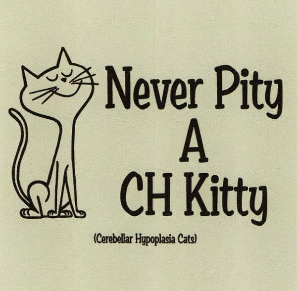 Chs Digital Art - Never Pty A Ch Kitty, Cerebellar Hypoplasia Awareness by Deborah Martin