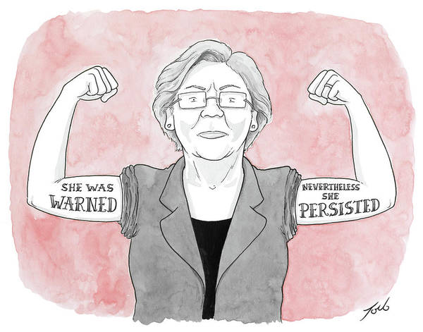 Democrats Drawing - Nevertheless She Persisted by Tom Toro