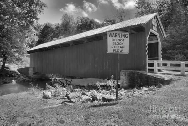 Somerset County Photograph - New Baltimore Covered Bridge Side View by Adam Jewell