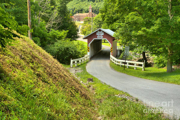 New Baltimore Covered Bridge Through The Forest Art Print