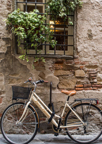 Photograph - New Bike In Old Lucca by Gary Karlsen