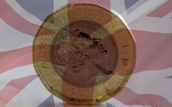 Photograph - New British One Pound Coin Blended With Union Jack A by Jacek Wojnarowski