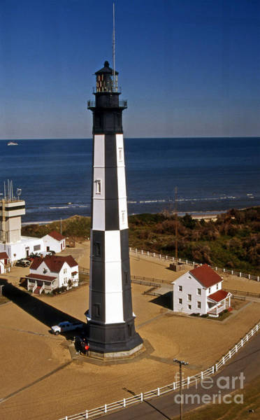 Virginia Lighthouse Photograph - New Cape Henry Lighthouse Va by Skip Willits
