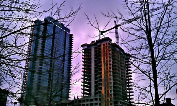 Digital Art - New Construction, Two Towers by Paisley O'Farrell